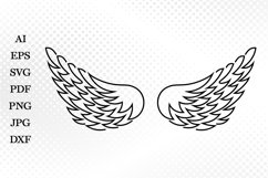 Angel Wings SVG, Wings Cutting file, Wings Cricut, Angel SVG Product Image 2