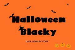 Cute Display Font - Halloween Blacky Product Image 1