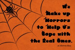Cute Display Font - Halloween Blacky Product Image 5