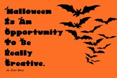 Cute Display Font - Halloween Blacky Product Image 3