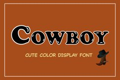 Cute Color Display Font - Cowboy Product Image 1