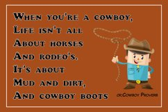 Cute Color Display Font - Cowboy Product Image 3