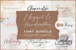 Elegant & Handwritten Font Bundle Product Image 1