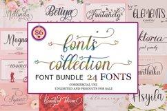 24 Font calligraphy - Bundle Product Image 1
