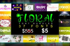 Floral Font Bundles Product Image 1
