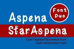 Cute Display Font Duo - Star Aspena and Aspena Product Image 1