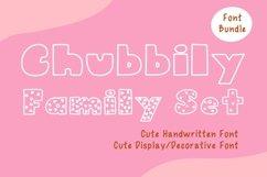 Cute Font Bundles - Chubbily Family Set Product Image 1