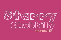Cute Display Font - Starry Chubbily Product Image 1