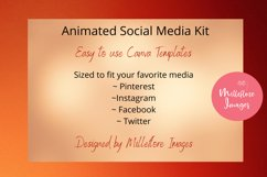 Animated Social Media Kit Canva Templates for Food Bloggers Product Image 2