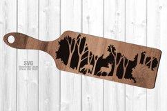Monogram Forest Deer Buck Cheese Board SVG Glowforge Files Product Image 3