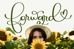 Web Font Forward - A Script With Hearts & Swooshes Product Image 1