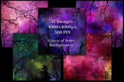Forest of Stars Backgrounds - 12 Image Textures Set Product Image 3