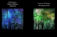 Forest of Stars Backgrounds - 12 Image Textures Set Product Image 4