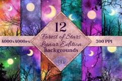 Lunar Edition - Forest of Stars Backgrounds - 12 Images Product Image 1