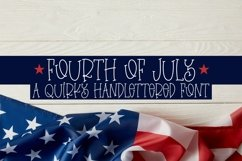 Web Font Fourth Of July - A Quirky Handlettered Font Product Image 1
