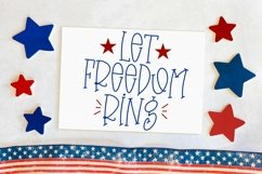 Web Font Fourth Of July - A Quirky Handlettered Font Product Image 3