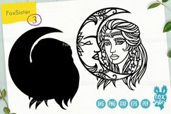 Witch svg, Witch clipart, Witch cut files, Girl face svg Product Image 2