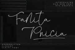 Fanita Pricia - Elegant Script Font Product Image 1