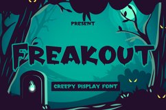 Freakout - Creepy Display Font Product Image 1
