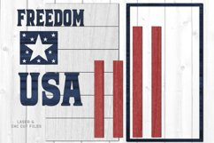 Freedom USA Flag Shiplap Vertical Sign SVG Glowforge Files Product Image 3