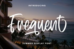 Frequent - Summer Display Font Product Image 1