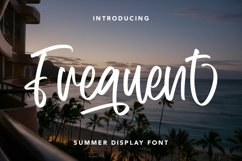 Web Font Frequent - Summer Display Font Product Image 1