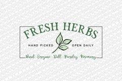Fresh Herbs SVG | Farmhouse Garden Sign SVG Product Image 2