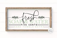 Fresh Soap and Water SVG   Modern Farmhouse Bathroom SVG   D Product Image 1