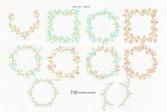 Floral Wreath Clipart Blue Pink Flowers PNG|Drawberry CP071 Product Image 2