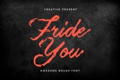 Web Font Frideyou Font Product Image 1