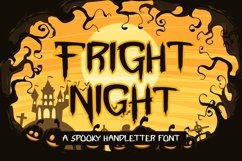 Web Font Fright Night - A Spooky Handletter Font Product Image 1