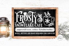 Frosty's Snowflake Cafe SVG | Christmas / Winter Design Product Image 4