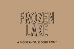 Frozen Lake - a modern sans serif font Product Image 1