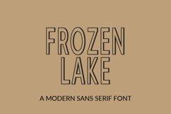Web Font Frozen Lake - a modern sans serif font Product Image 1