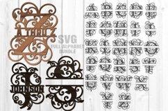 Split Letter Monograms SVG Glowforge Laser Cut Files Bundle Product Image 3