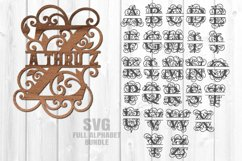 Split Letter Monograms SVG Glowforge Laser Cut Files Bundle Product Image 2