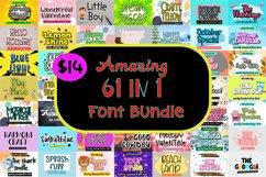 Amazing 61 in 1 Font Bundle Product Image 1