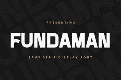 Web Font Fundaman Product Image 1