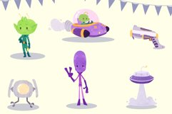 Funny Aliens Watercolor Style Clip Art Product Image 2