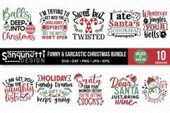 Funny and Sarcastic Christmas SVG Bundle - 10 designs Product Image 1