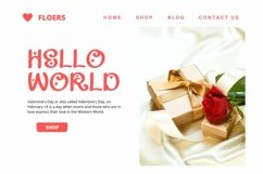 Web Font Gadline - Valentines Font Product Image 2