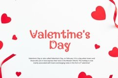 Web Font Gadline - Valentines Font Product Image 5