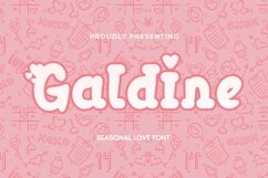 Web Font Galdine - Valentines Font Product Image 1