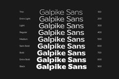 Galpike Sans - Variable Font Product Image 3