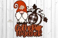 Gnome Pumpkin SVG Glowforge Farmhouse Sign Laser Cut Files Product Image 3