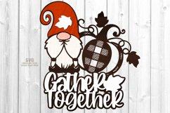Gnome Pumpkin SVG Glowforge Farmhouse Sign Laser Cut Files Product Image 1