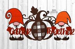 Glowforge Gnome Pumpkin Sign SVG Farmhouse Laser Cut Files Product Image 1