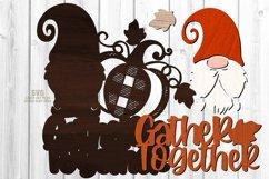 Gnome Pumpkin SVG Glowforge Farmhouse Sign Laser Cut Files Product Image 4