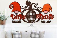 Glowforge Gnome Pumpkin Sign SVG Farmhouse Laser Cut Files Product Image 2