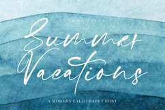 Summer Vacations Calligraphy Font Product Image 1